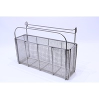 "* AESCULAP STERILIZATION WIRE BASKET 18-1/2 x 5 x 8-3/4H"" 12-1/2"" to the TOP"