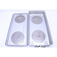 * CASE MEDICAL STERILIZATION CONTAINER CASE 21-3/4 x 10-1/4 x 4-1/4""