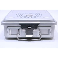 * CASE MEDICAL STERILIZATION CONTAINER CASE W/ BASKET 21-3/4 x 10-1/4 x 4-1/4""