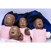 * LAERDAL LITTLE ANN CPR TRAINING 4-PACK BABY MANIKIN W/ CARRYING CASE