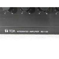 TOA BG1120 INTEGRATED AMPLIFIER