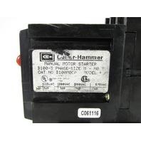 CUTLER HAMMER B100M0-CA MANUAL MOTOR STARTER