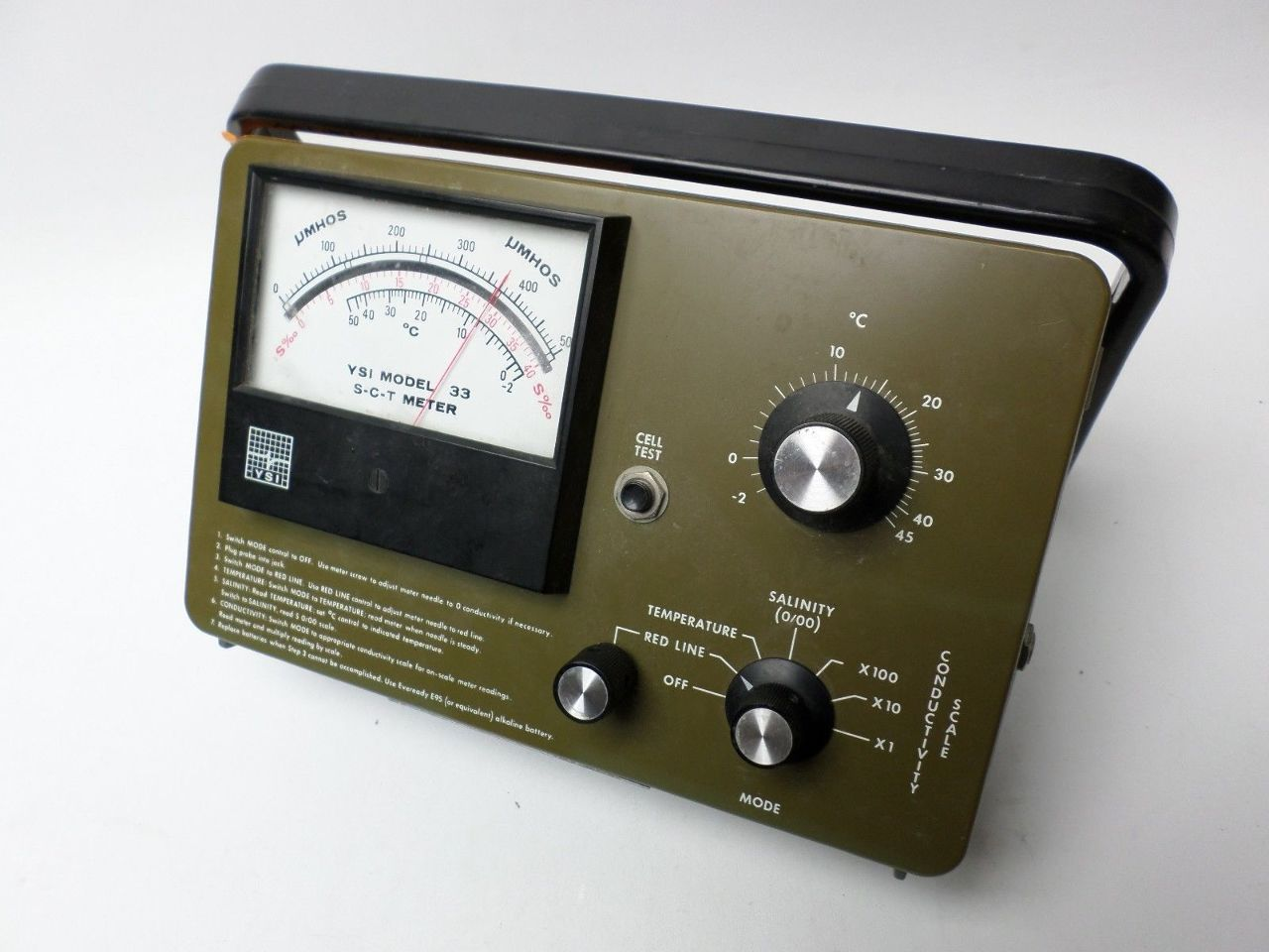 YSI MODEL 33 S-C-T METER Salinity meter Vintage w/case | Indy Surplus Store