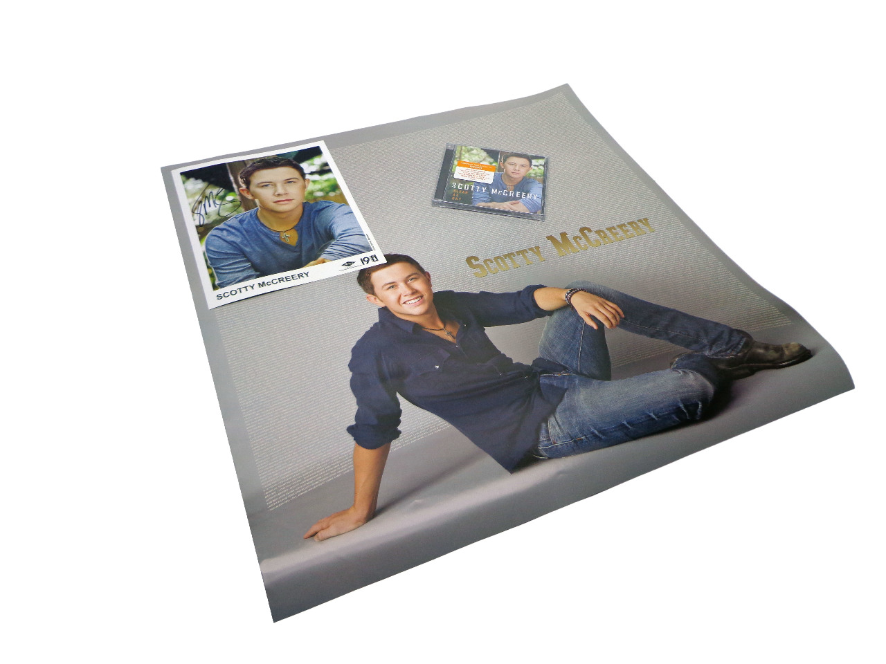 NEW Scotty McCreery Clear As Day CD + AUTOGRAPHED ORIGINAL SIGNED 8x10 + POSTER