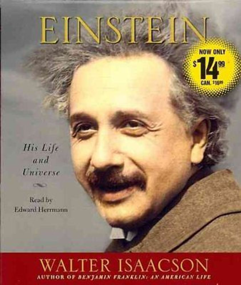 NEW EINSTEIN by Walter Isaacson His life and Universe Audiobook read by Edward Herrmann 9781442348066