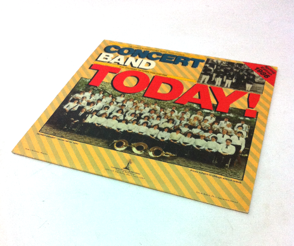 Concert Band Today from Columbia Pictures Publications  Vinyl Record Vintage LP Movie Prop