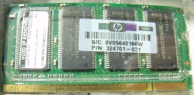 New 512MB 333MHz DDR 324701-031 Laptop Memory RAM New in BOX