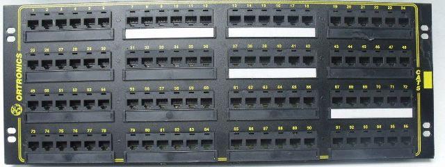 """Ortronics 96-Port CAT 5e Patch Panel OR-851004836 RJ-45 4U 19"""" Rack Mount"""