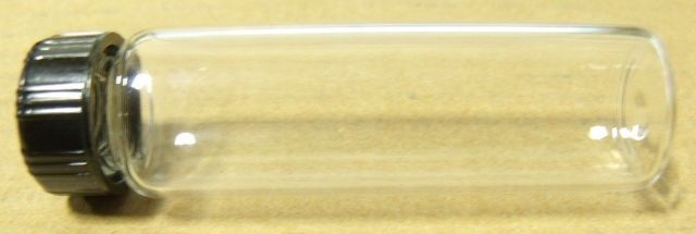 8pcs GLASS VIALS(CLEAR) 19x65 mm 3 DRAM 12mL WITH SCREW CAP