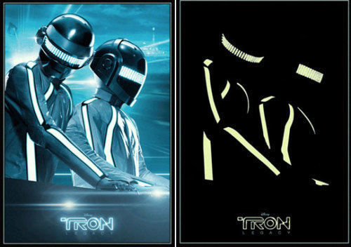 """NEW Tron Legacy LIMITED EDITION Glow-in-the-dark Poster Daft Punk 27"""" x 39"""" RARE"""