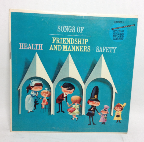 VINTAGE 1962 Songs of Friendship and Manners Volume 12 LP Record Vinyl Health Safety