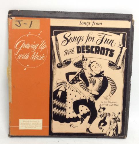 RARE VINTAGE Songs for Fun with DESCANTS LP Box Set Vinyl Record