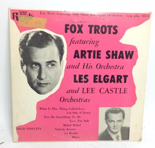 VINTAGE 1955 Fox Trots Artie Shaw Les Elgart LP 18151 Vinyl Record Orchestra