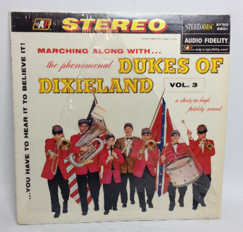 VINTAGE 1958 The Phenomenal Dukes of Dixieland Vol 3 LP Vinyl Record