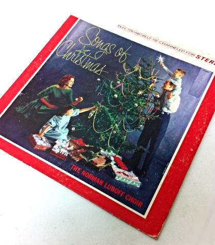 Songs of Christmas The Norman Luboff Choir Vintage Music Record LP Movie Prop