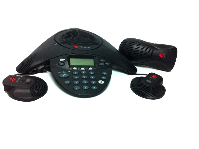 Polycom Soundstaion Phone Station 2201-16020-601 conference phone,wall module with 2 mics