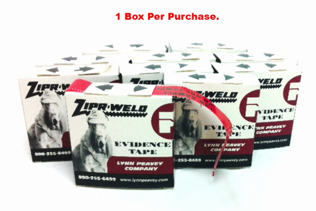 NEW ZIPR-WELD Lynn Peavey Evidence Tape Lab Sample