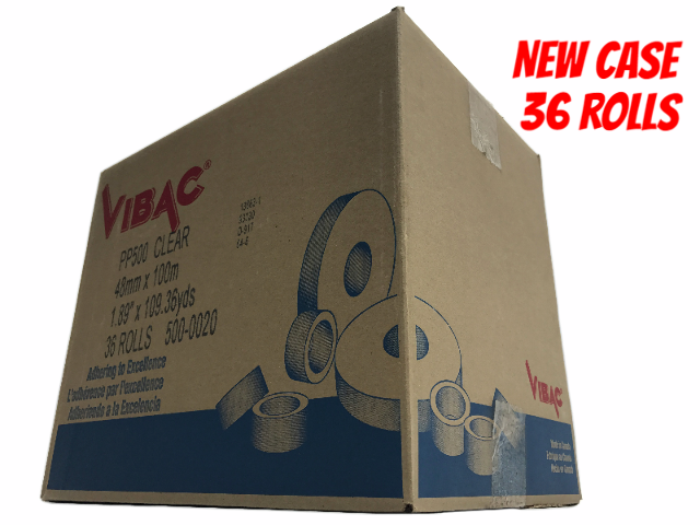 "NEW 36 Rolls of Vibac 1.61 mils PP500 Clear Packing Tape 1.89"" x 109.36 yds 2"""
