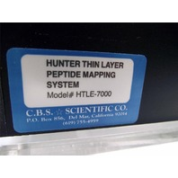 Hunter Thin Layer Peptide Mapping System HTLE-7000 + MANUAL C.B.S. Scientific