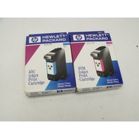 Lot of 2 New Genuine HP 40 Color 51640M / 51640C Magenta / Cyan Ink Print Cartridge