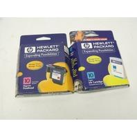 Lot of 2 Genuine HP C4841A / C4802A Magenta / Cyan Ink Print Cartridge
