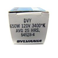 New Sylvania 54528-4 Tungsten Halogen Lamp DVY 25HRS 650W