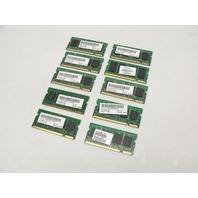 Lot of 10 512MB 2Rx16 PC2-3200 333Mhz DDR2 RAM Laptop Memory Sticks