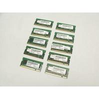 Lot of 10 512MB 2Rx16 PC2-4200 444Mhz DDR2 RAM Laptop Memory Sticks
