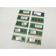 Lot of 10 512MB 2Rx16 PC2-5300 555Mhz DDR2 RAM Laptop Memory Sticks