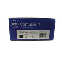 NEW GBC CombBind 3/8 10mm Black Binding Comb 100 Pack 55 Sheet Capacity