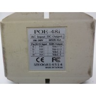 Pacific Wireless POE-48i 48 volt PoE Power over Ethernet Injector 48VDC 16W