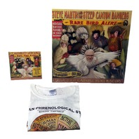 NEW Sealed Steve Martin RARE Bird Alert LP Vinyl w/CD & Trading Cards T-Shirt (M)