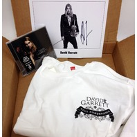NEW David Garrett Deluxe Fan Pack: XTRA LARGE T-shirt, Rock Symphonies CD, Autographed Picture