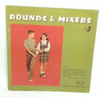 RARE VINTAGE 1967 Rounds and Mixers #2 LP B-2063 Record Vinyl Lyrics Sleeve