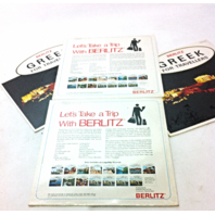 Lot of 4 BERLITZ for Travelers Vintage Record LP Movie Prop
