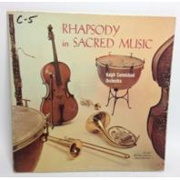 VINTAGE 1958 Rhapsody in Sacred Music RALPH CARMICHAEL LP LPS 6001 Vinyl Record