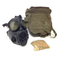 VINTAGE FETISH MILITARY M18 BONDAGE GAS MASK GASMASK USM + BAG