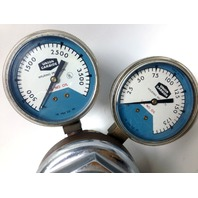 Purox Union Carbide R-1935 Gas Pressure Regulator Gauges