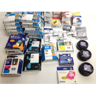 A Lot of Canon, HP, and Epson Ink Cartridges