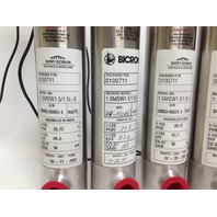 Lot of 5 Saint-Gobain And Bicon 1.5MSW1.5/1.5L-X Gamma Scintillation Crystal Detectors