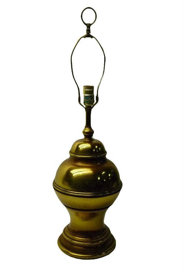 vintage brass table top lamp ebay. Black Bedroom Furniture Sets. Home Design Ideas