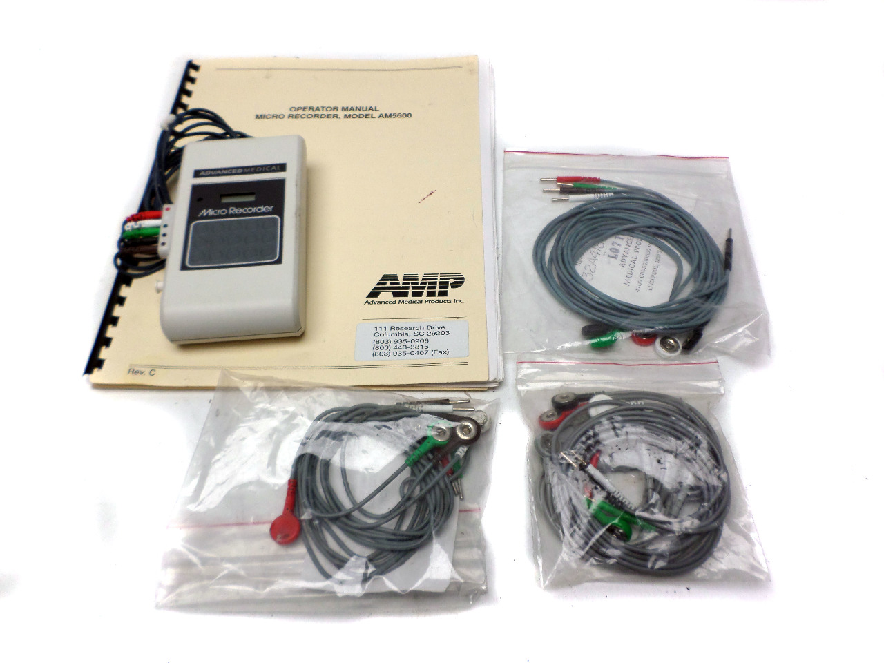 Advanced Medical Micro Recorder AM5600 Ambulatory ECG BP Monitoring With Leads
