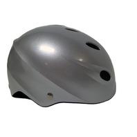 New Top Gear 17S Glossy Silver Ski Snowboard Helmet - X Small -