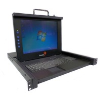 "Freedom9 Freeview Pro C10H  KDW-01HA1 15"" LCD Rackmount KVM Console Freedom 9"