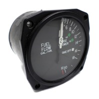 Precision Avionics Instruments 1U028-004-3 Duel Fuel Flow