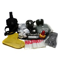Emergency Safety Response Med Gas Mask MSA XX Large Tychem Suit Prepper Survival