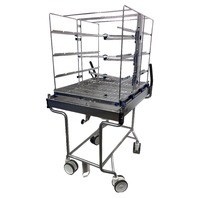 "Getinge ""Smart"" Trolley Washer Disinfector Cart with 3- Level Wash Cart"