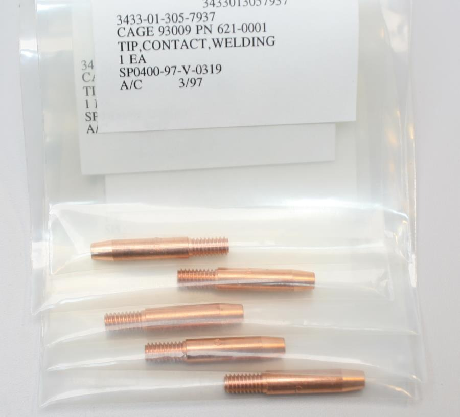 New Lot of 5 National Torch Tip Co. Contact Welding Tip P/N 621-0001