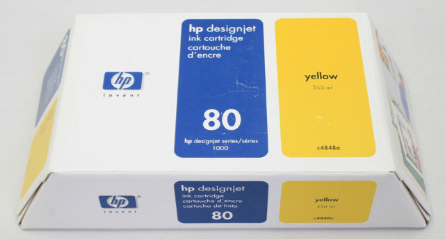 NEW Genuine OEM HP 80 Designjet Yellow Ink Cartridge c4848a