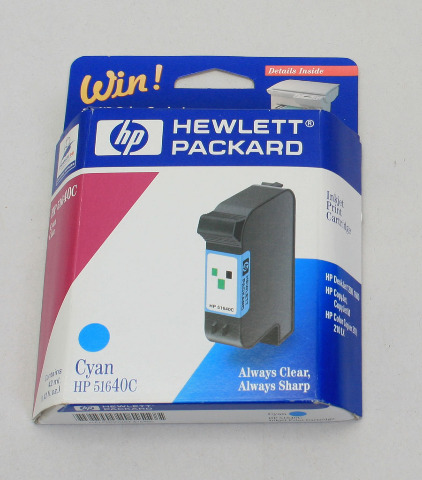 NEW Genuine OEM HP 40 Cyan Inkjet Print Cartridge 51640C